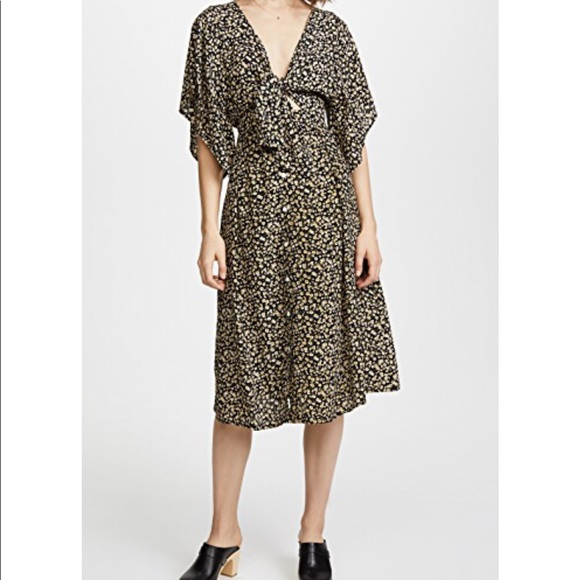 8f0011d7825a1 Faithfull the Brand Dresses   Skirts - Faithfull the Brand floral tie front  dress NEW